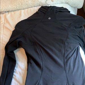 lululemon athletica Jackets & Coats - Lululemon black asymmetrical zip up. Size 4